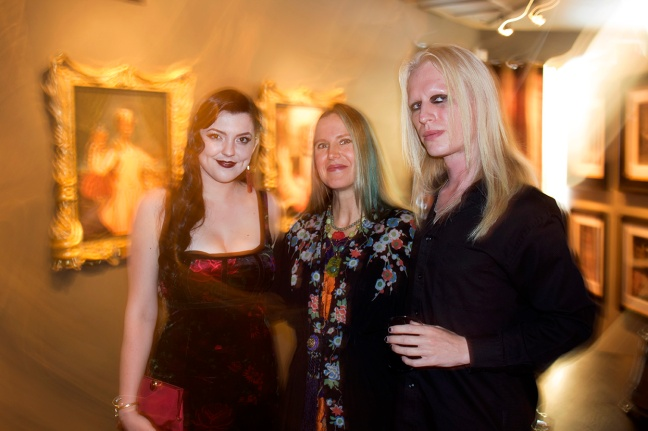 Asia Ray and Morgue from AMC's Freakshow with Freaks artist Gail Potocki