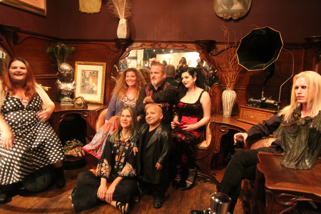 Dakota the Bearded Lady, Todd and Danielle Ray, Asia Ray, Morgue, and America's Smallest Man Gabriel with Freaks artist Gail Potocki